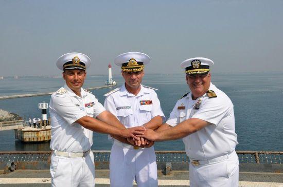 Воронченко с офицерами ВМС США