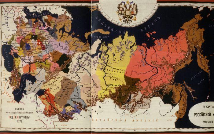 Карта Российской империи – лучший ответ на выдумки о «коренных народах Украины». Здесь и Одесса, и Херсон, и Киев…