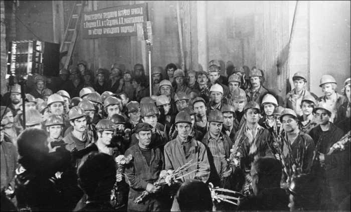 Советские метростроевцы Киева
