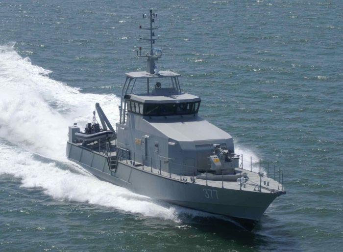 Патрульный катер OCEA FPB 98 MKI. Альт и подпись. Патрульный катер OCEA FPB 98 MKI