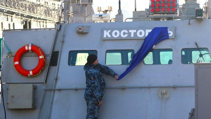Один из украинских «москитов» – малый бронированный артиллерийский катер «Костополь»