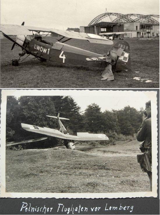 Разбомбленный немцами аэродром Львова
