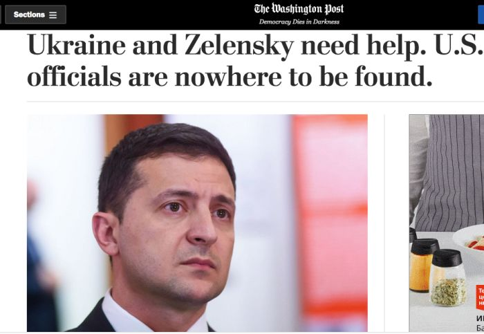 Ukraine and Zelensky need help. U.S. officials are nowhere to be found