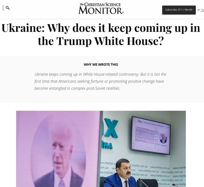 Ukraine: Why does it keep coming up in the Trump White House?