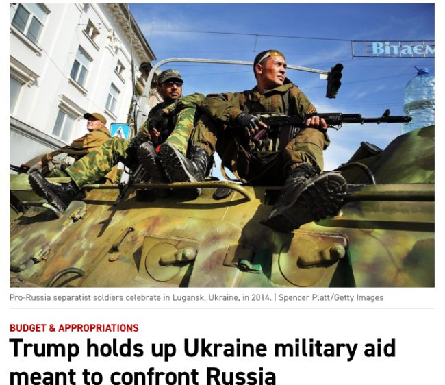 Trump holds up Ukraine military aid meant to confront Russia