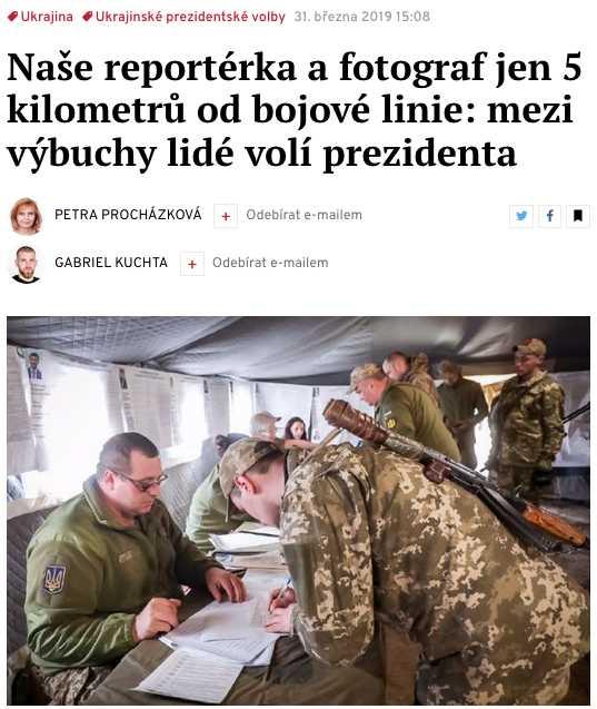 Deník N – о голосовании в Донецкой области