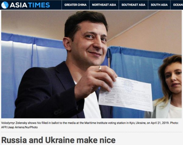 Asia Times «Russia and Ukraine make nice»
