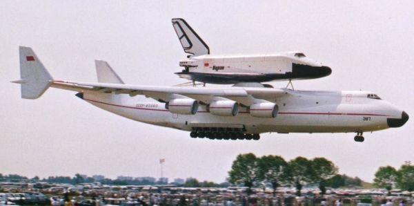 Посадка Ан-225 с «Бураном» в Ле-Бурже