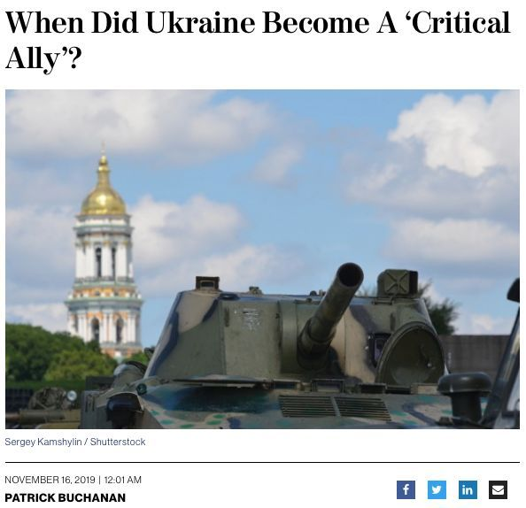 When Did Ukraine Become A 'Critical Ally'?