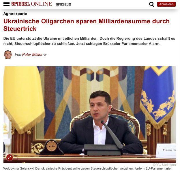 Ukrainische Oligarchen sparen Milliardensumme durch Steuertrick