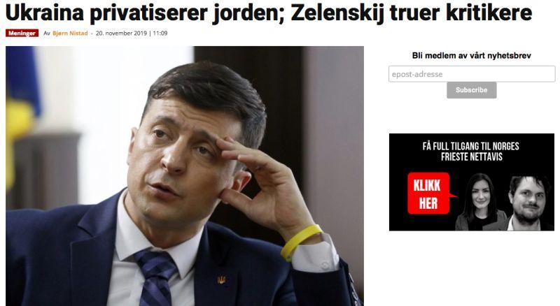 Ukraina privatiserer jorden; Zelenskij truer kritikere
