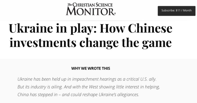 Ukraine in play: How Chinese investments change the game