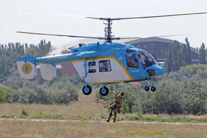 Украинские вертолёты на учениях «Си-Бриз»