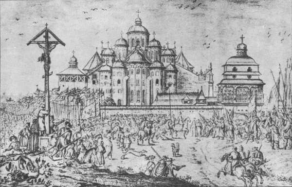 Город Киев. Рисунок, предположительно, голландского художника Абрахама ван Вестерфельда (1620/21-1692)