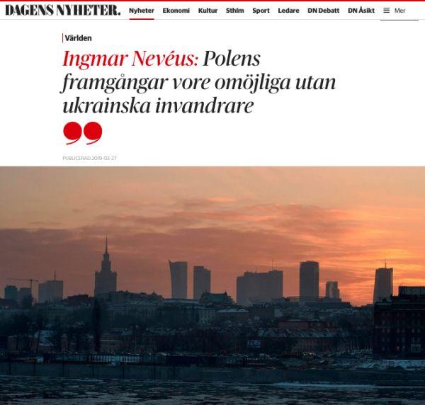 Dagens Nyheter об украинских мигрантах
