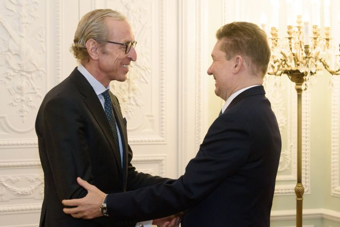 Встреча Георга Графа Вальдерзее и Алексея Миллера в Санкт-Петербурге (gazprom.ru)