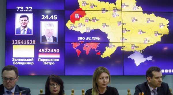 Итоги президентских выборов на Украине (карта)