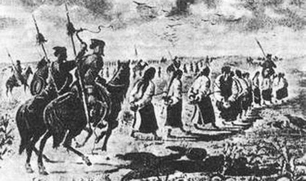 «Многовековые партнёры Украины», по словам некоторых украинских политиков, крымские татары уводят пленников из Малороссии на полуостров