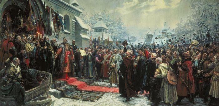 «Навеки с Москвой, навеки с русским народом» – картина украинского советского художника Михаила Ивановича Хмелько, написанная в 1951 году, в преддверии празднования 300-летия воссоединения