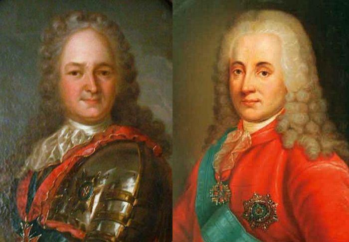Светлейший князь Александр Меньшиков и князь Дмитрий Голицын