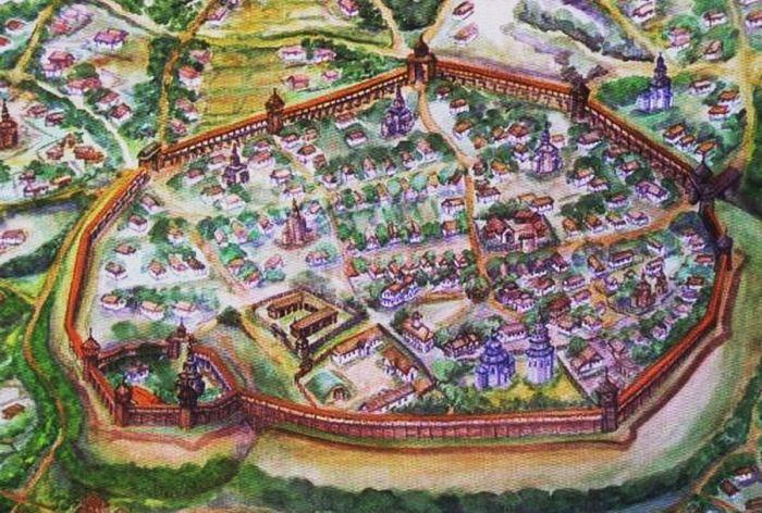 Батуринская крепость (макет, современная реконструкция)