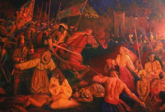 «Резня в Батурине». Лживая трактовка событий от современного художника А. Ивахненко