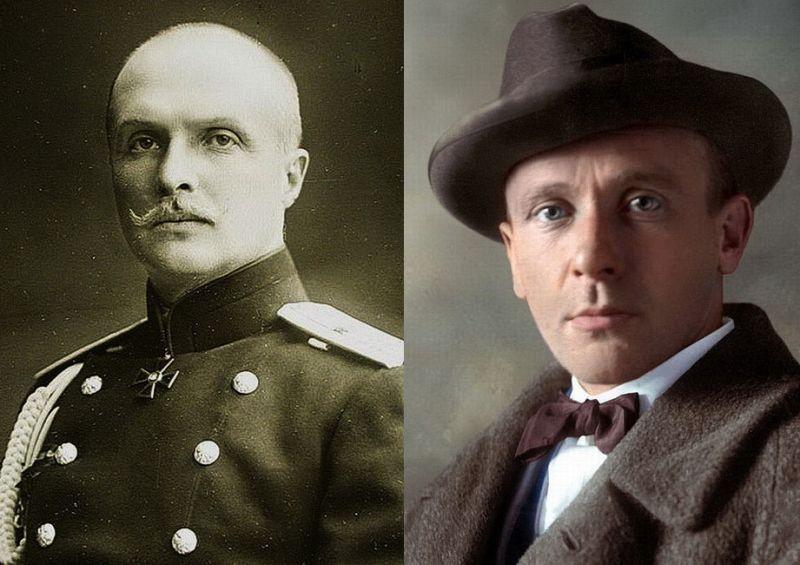 Гетман Павел Скоропадский (в форме генерал-майора Русской императорской армии) и писатель Михаил Булгаков.