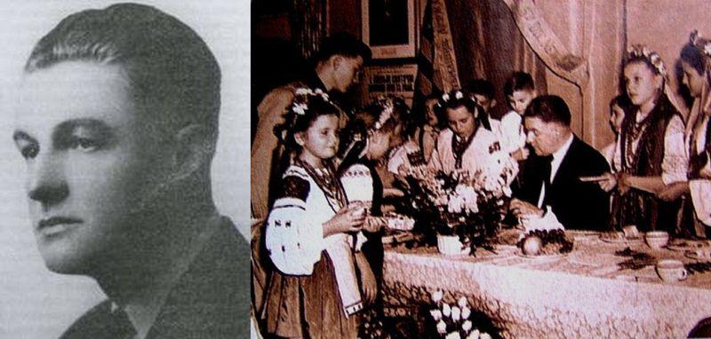Сын Павла Скоропадского, последний гетман Украины Даниил; Даниил Скоропадский среди украинской молодежи в Нью-Йорке, 1953 год.