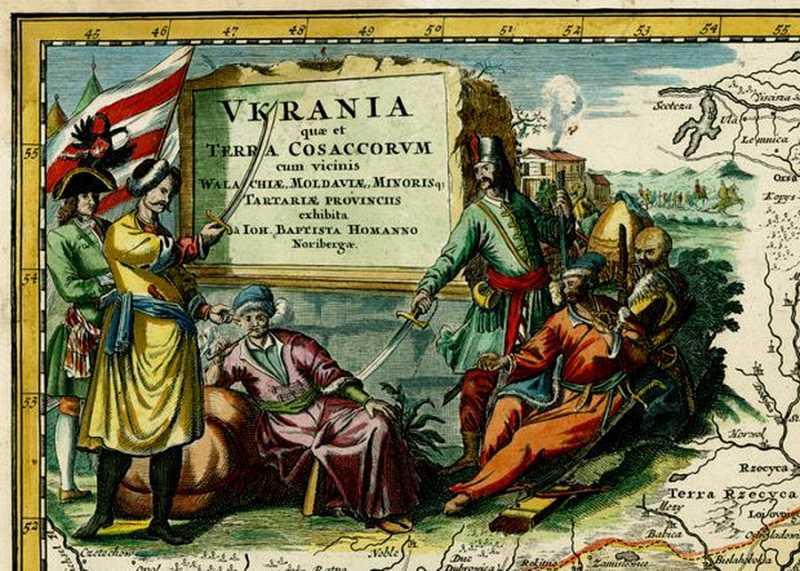 Картуш с карты Иоганна Батиста Гомана 1712 года