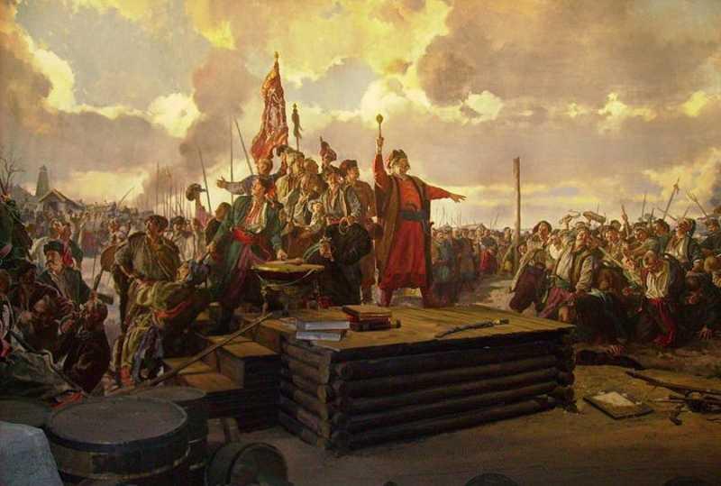 Войсковая рада на Сечи. Диорама в Музее истории запорожского казачества, остров Хортица