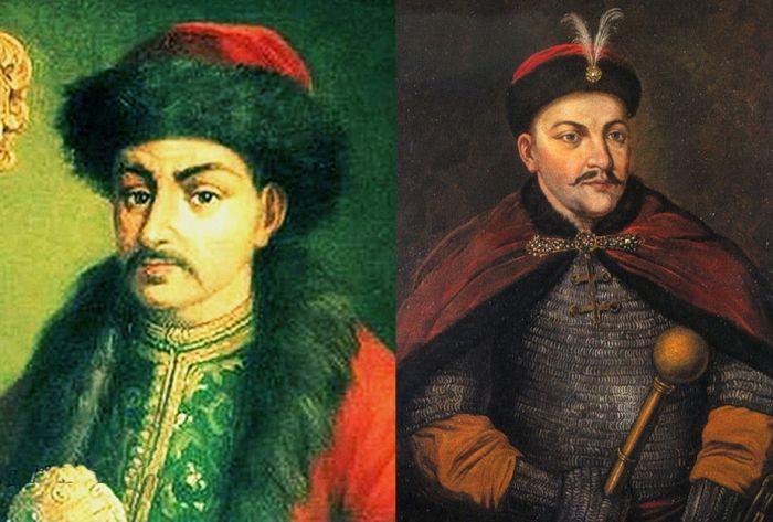 Иван Выговский, ввергнувший Малороссию в Руину, и Юрий Хмельницкий, приведший к её расколу на Право- и Левобережье – одни их самых известных гетманов-предателей.