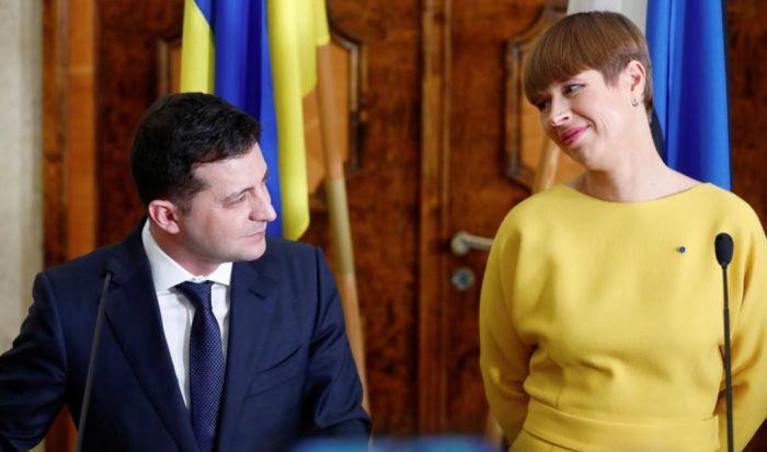 Владимир Зеленский и Керсти Кальюлайд, президент Эстонии