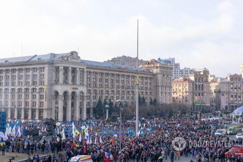 Протест «Красные линии для Зеленского» в Киеве