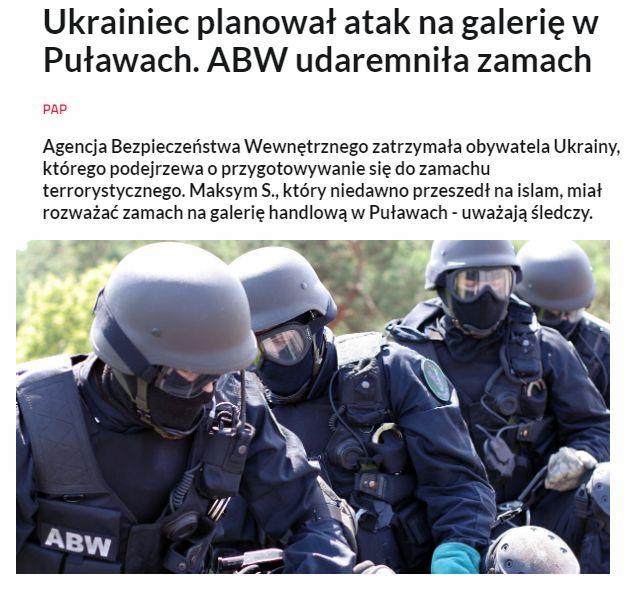 Украинский гражданин готовился устроить теракт в Польше