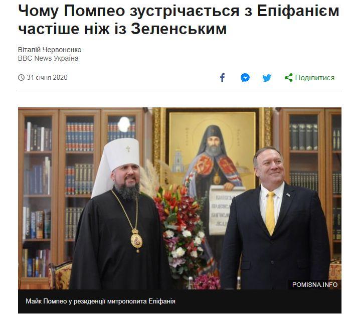 Украинские СМИ о визите Помпео в Украину