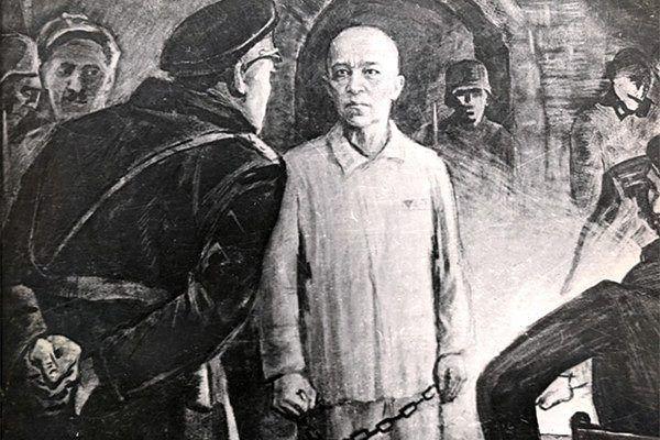 Картина, посвящённая подвигу генерала Карбышева