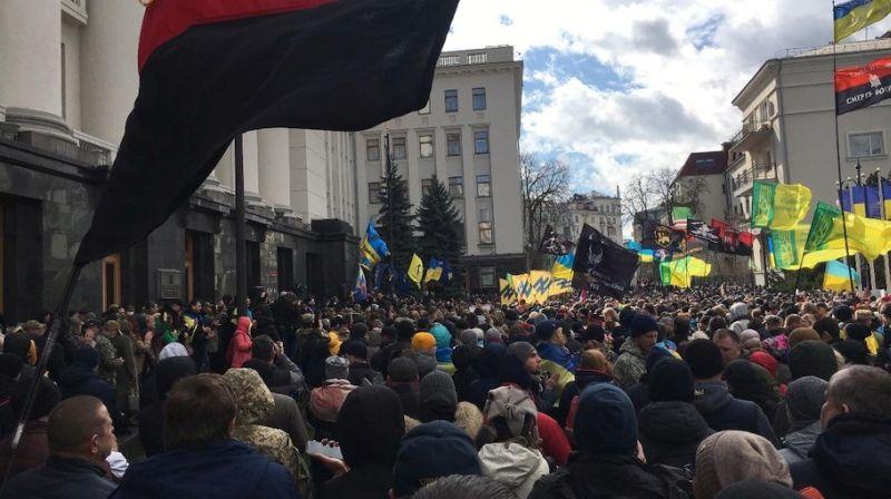 Запрещенные массовые акции в Киеве в День ветерана