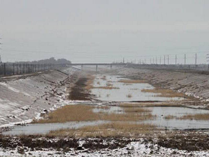 Северо-Крымский канал без воды