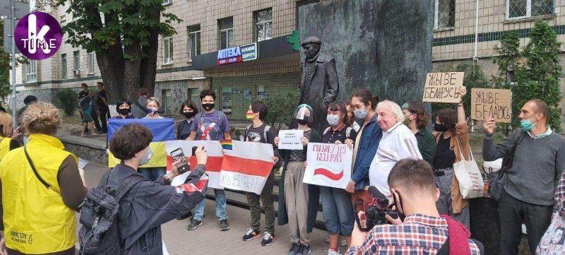 Протесты у Посольства Белоруссии в Киеве