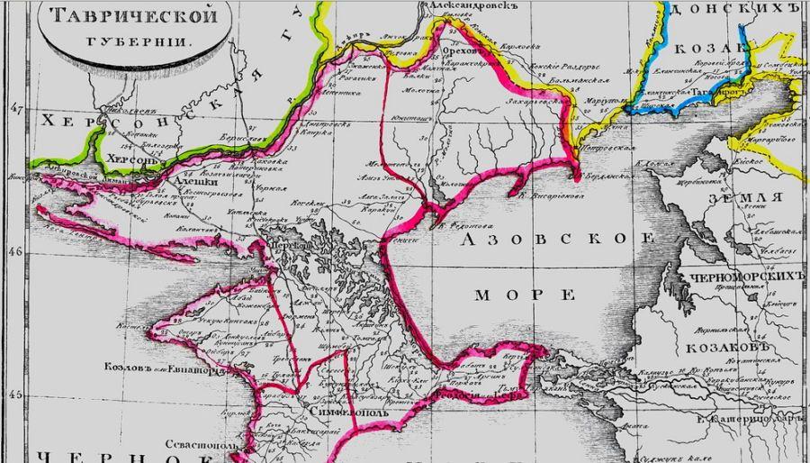 Карта Таврической губернии.
