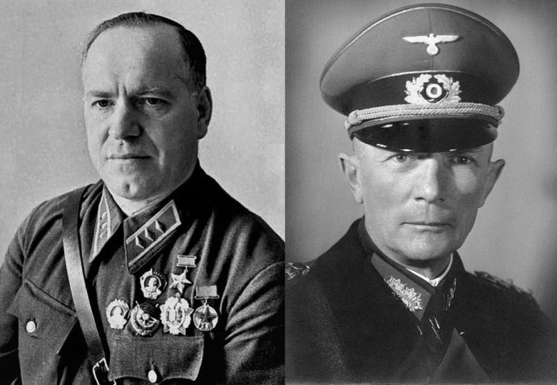 Два стратега: выигравший (Г.К. Жуков) и проигравший (Фёдор фон Бок).