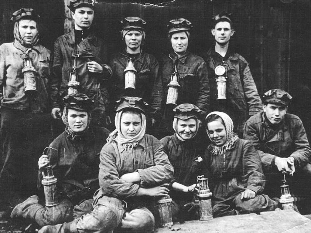 Женщины-шахтёры Донбасса
