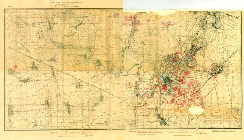 Карта укреплений города