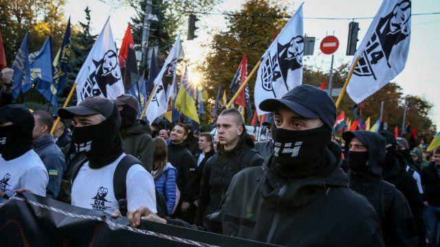Боевики неонацистской группировки С14