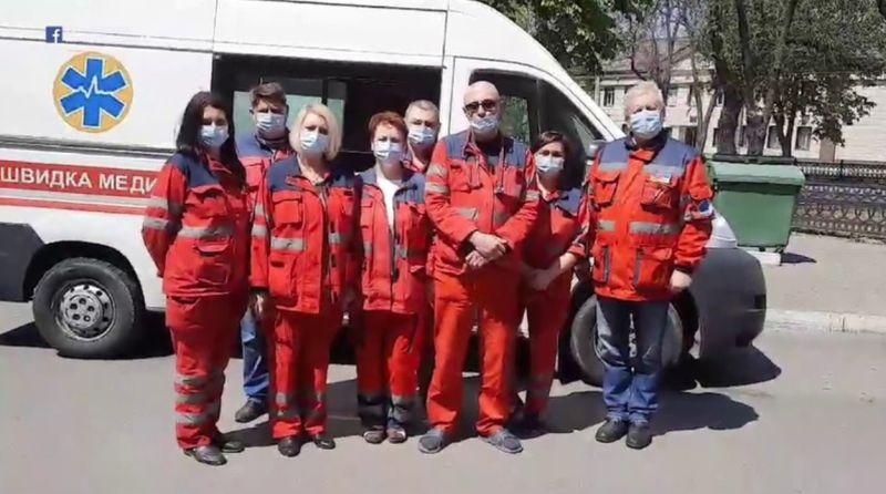 Протест медиков «Скорой» Мариуполя