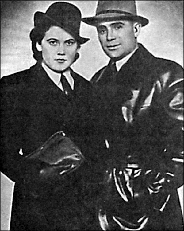 П.И. Таврин и Л.Я. Шилова перед заброской в СССР