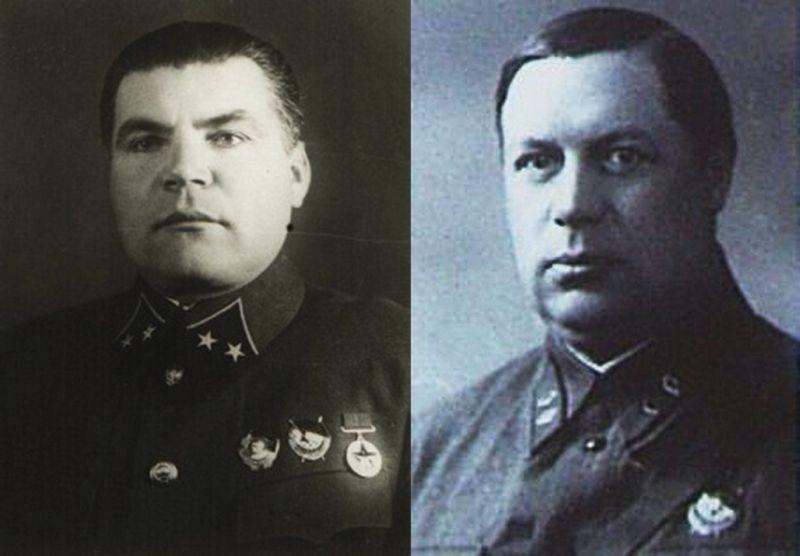 Комкор Р.Я. Малиновский и начальник штаба Закавказского фронта Ф.И. Толбухин