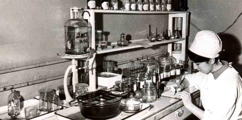 Баклаборатория в Одессе, 1970 год.
