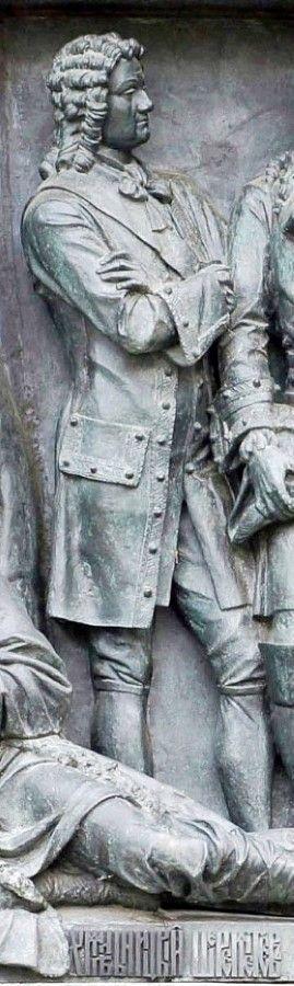 Борис Шереметев на памятнике «Тысячелетие России» в Великом Новгороде