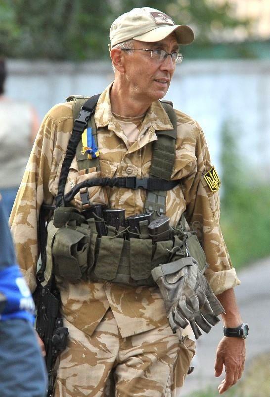Марк Паславский в батальоне «Донбасс». Лето 2014 г.